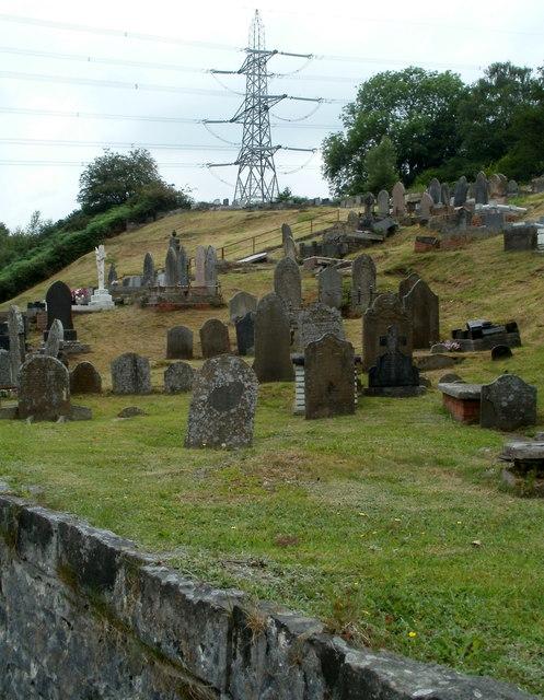 Pylon above Ebenezer Chapel graveyard, Pontneddfechan