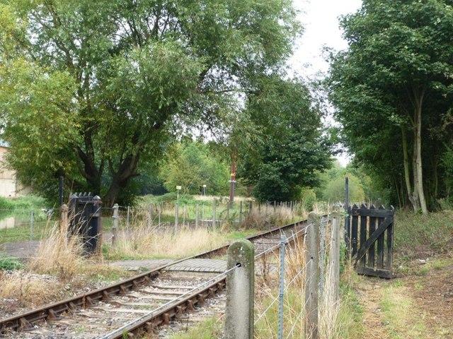 Footpath across the railway line
