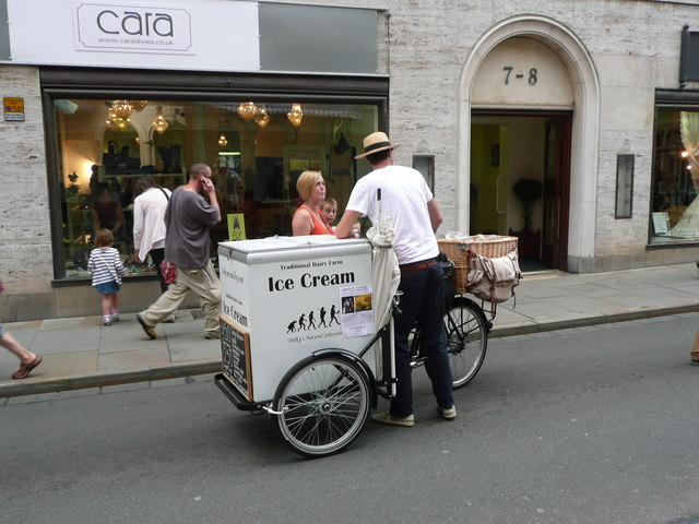 Old fashioned ice cream van