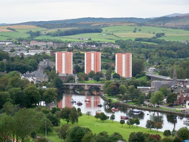 West Bridgend And The River Leven