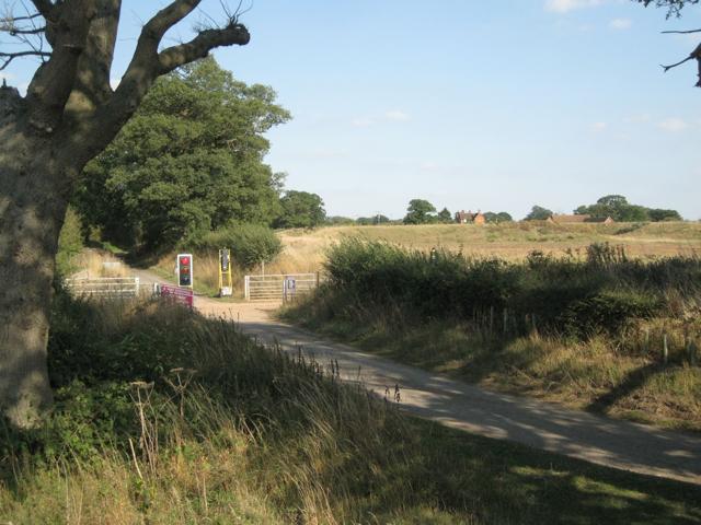 Haul road crosses Mercote Hall Lane