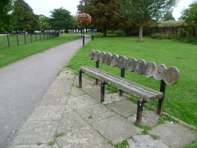 Seat in Warwick Gardens, Peckham