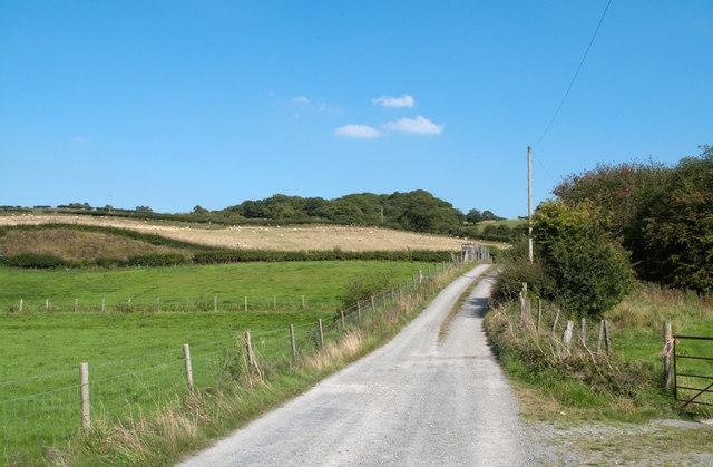Farm road east of Wern-ddu