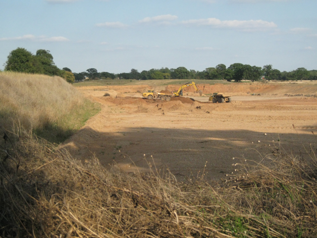 Active sand and gravel workings, Berkswell Quarry