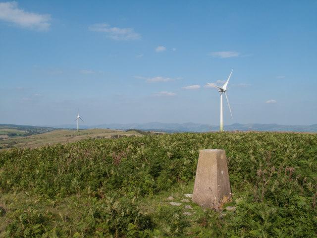 Trig point of Mynydd Rhyd ddu