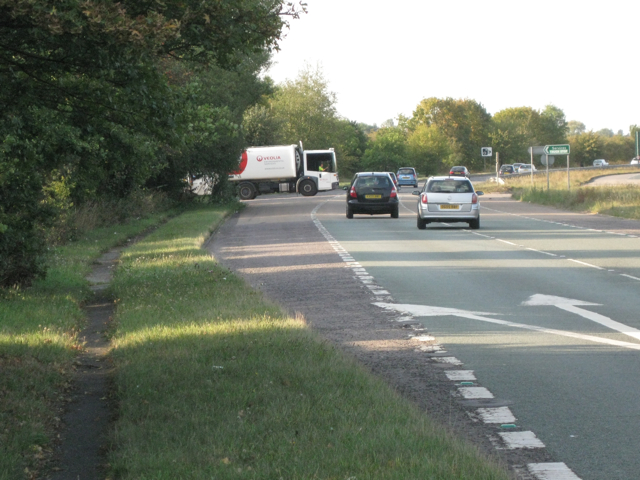 A452 northbound exit for Truck Stop