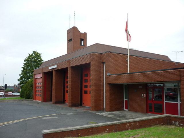 The GMC fire station on Albert Road, Farnworth