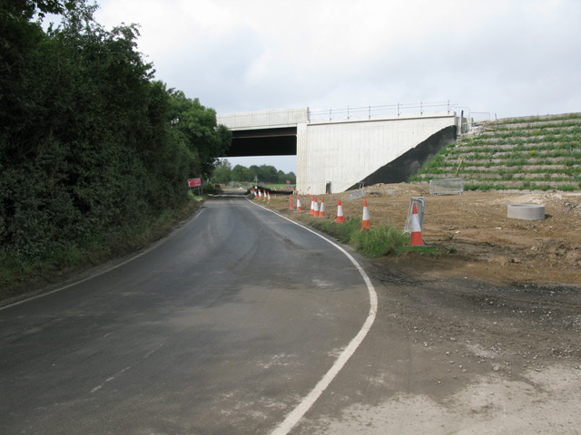 New bridge over Cottington Road and the railway