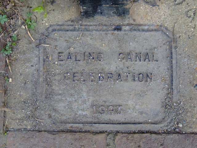 Plaque by the River Brent