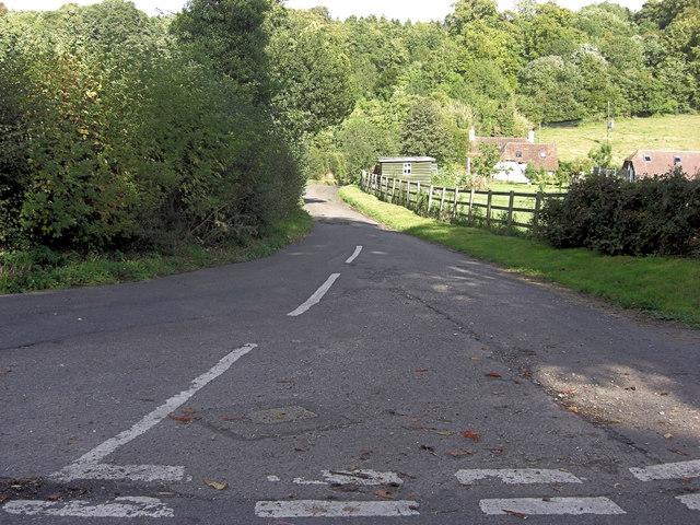 Road junction below Palmers Hill, Ashampstead
