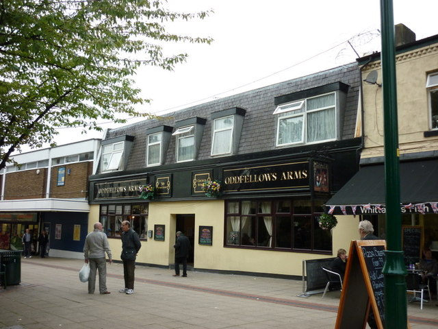 The Oddfellows public house on Church Street, Eccles