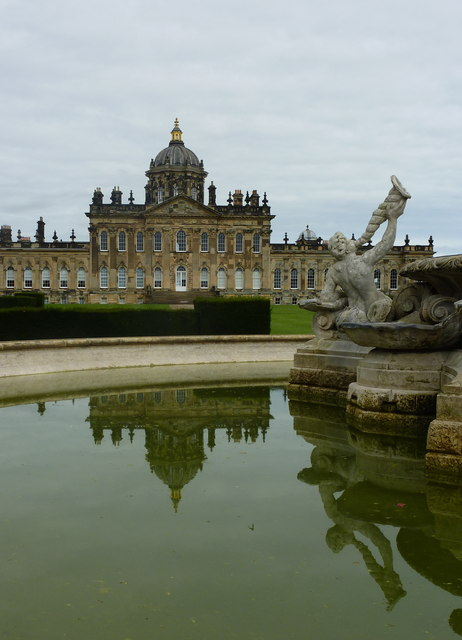 View of Castle Howard from the Atlas Fountain