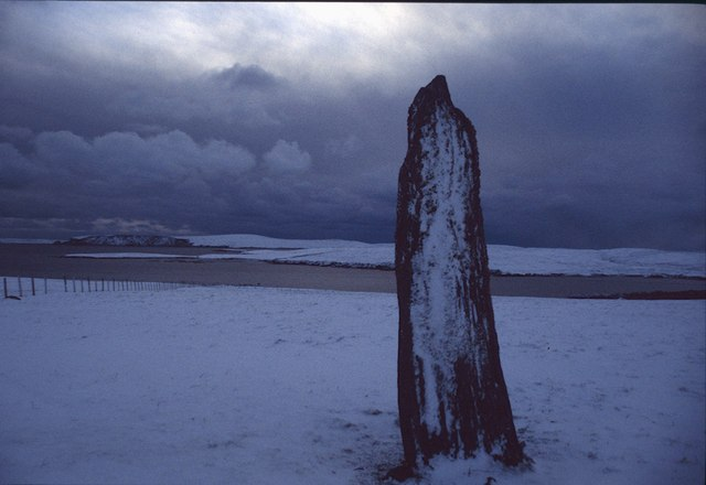 Clivocast standing stone, Uyeasound