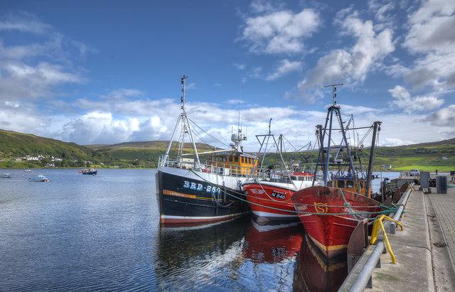 Prawn boats on King Edward Pier