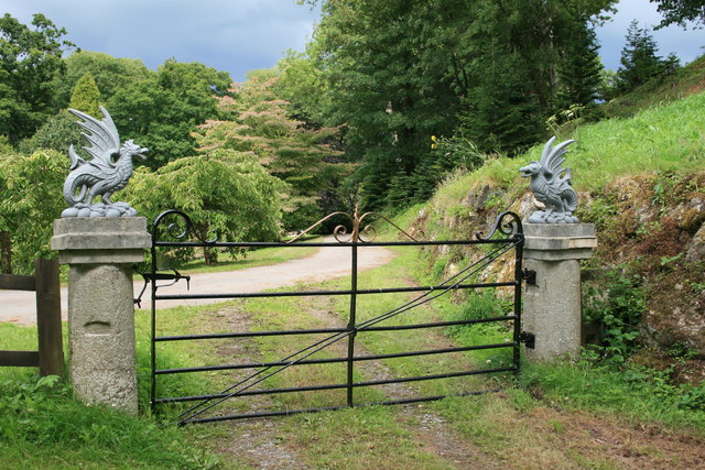 Gate at Ugbrooke House