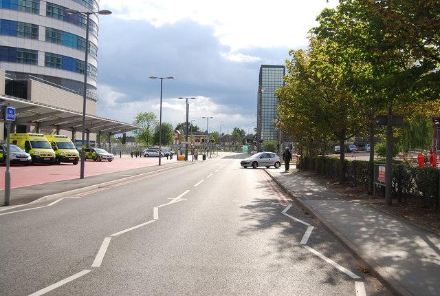 Road outside Queen Elizabeth Hospital