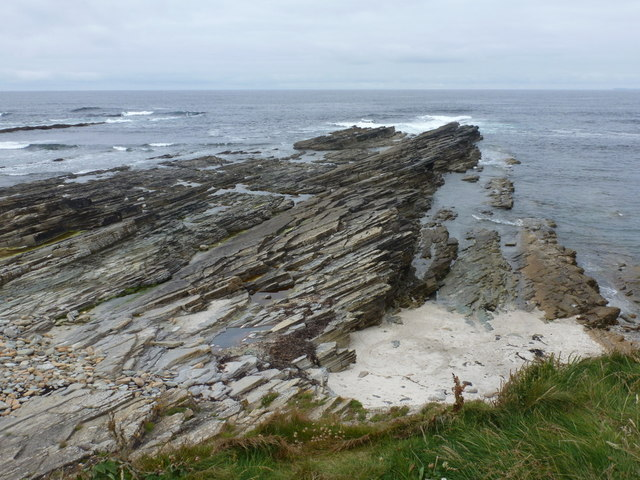 Birsay: rocks on the north-facing coast