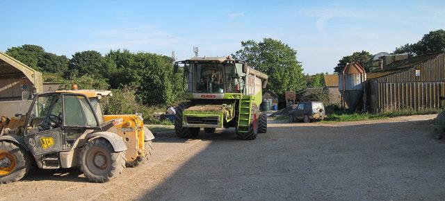 Machinery at Mile Oak Farm