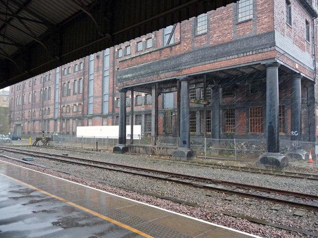 Warehouse adjacent to Huddersfield railway station