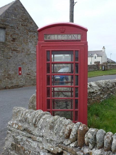 Birsay: the phone box