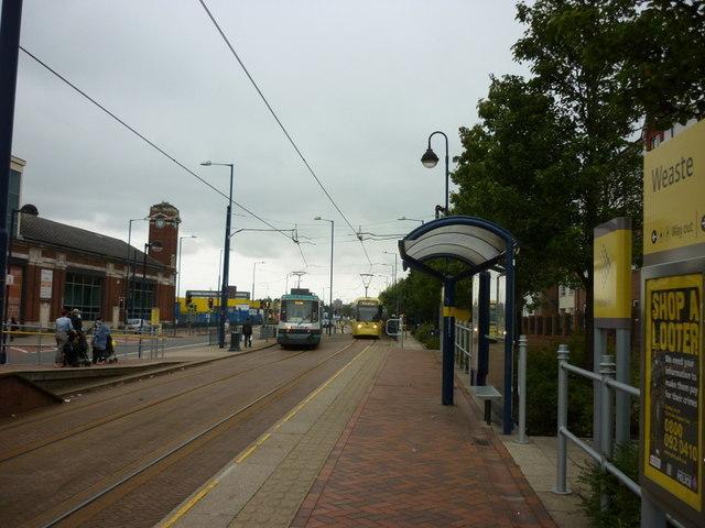 Trams at Weaste Station