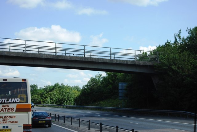 Footbridge over the M11