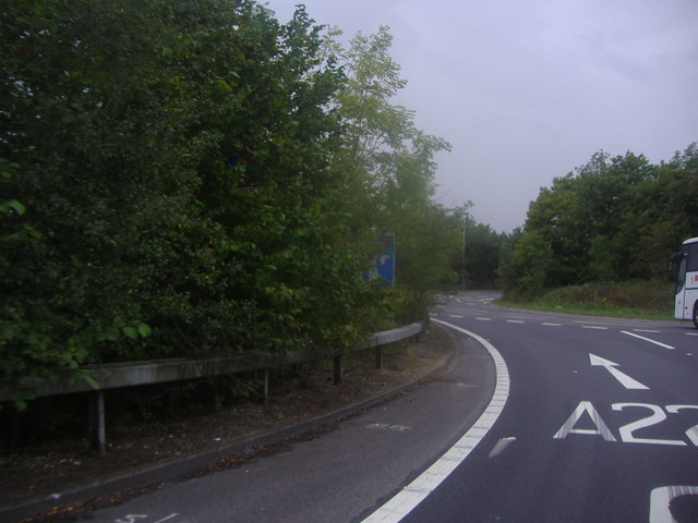 The roundabout at the end of the M25, Badgers Mount