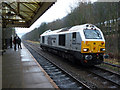 SD9926 : An unusual sight at Hebden Bridge station by Phil Champion