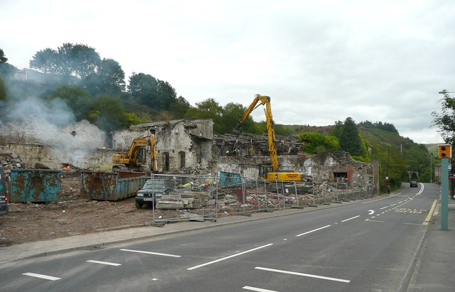 Demolition of Cinderhill Mills, Halifax Road, Todmorden