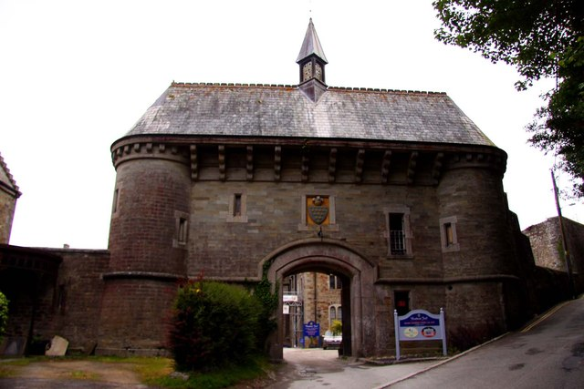 The entrance to Bodmin Gaol