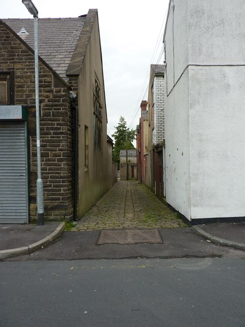 Back street off Commercial Street, Rishton