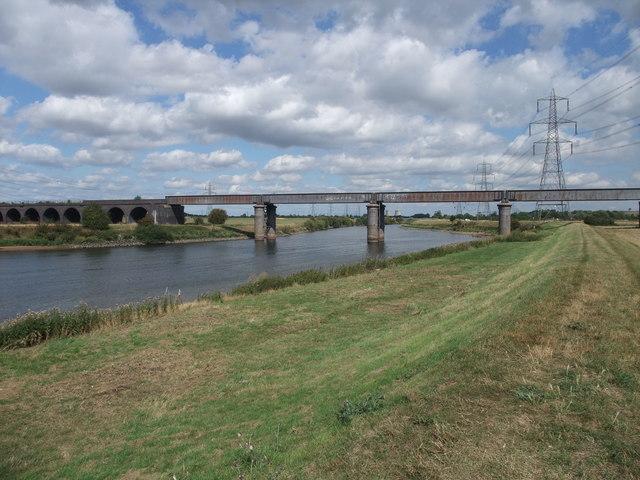The Fledborough viaduct and bridge