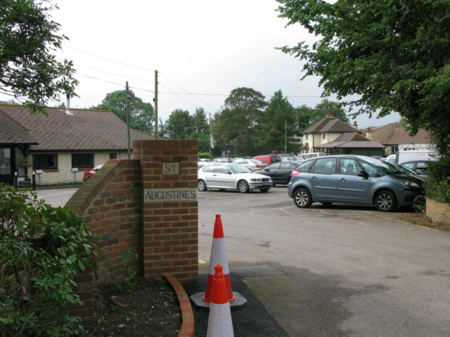 St Augustine's golf club entrance and car park