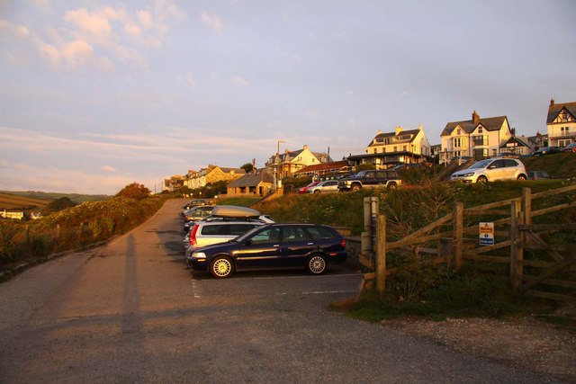 The car park at Port Isaac