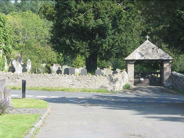 Norton church's lych gate and graveyard