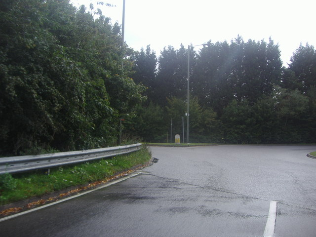 Roundabout on the A25 and A22 Godstone