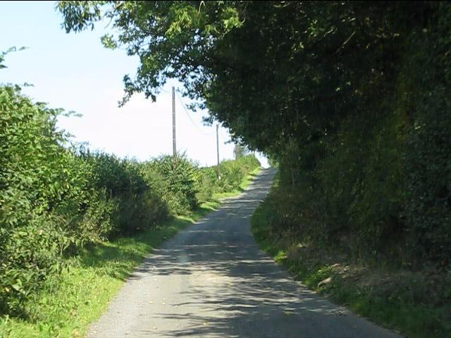 Lane climbing to Stapleton Hill