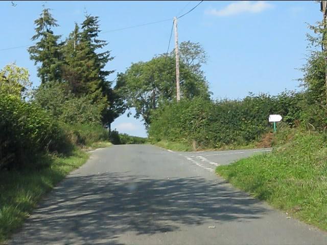 Lane junction at Hill Crest