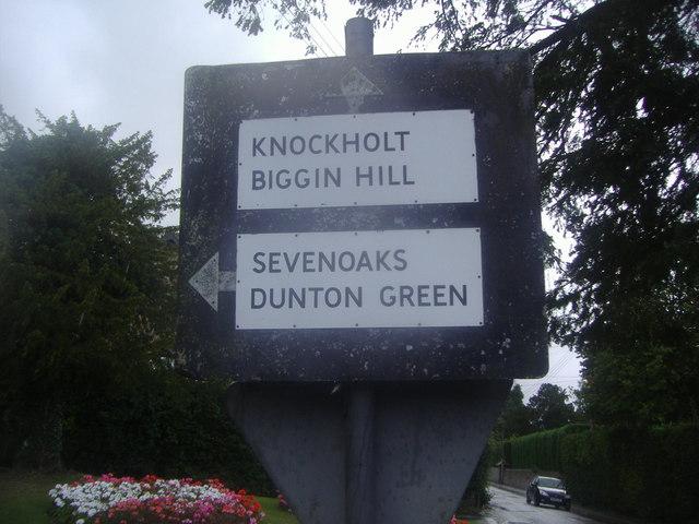 Pre-Worboys sign, Knockholt Pound