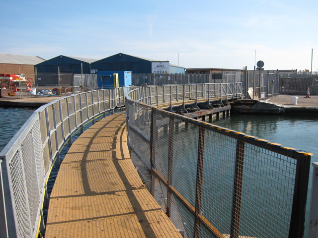 Lock gates and bridge