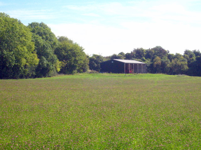 Modern barn in a field near Burbage
