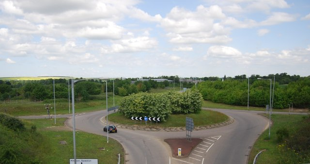 Roundabout at Stump Cross