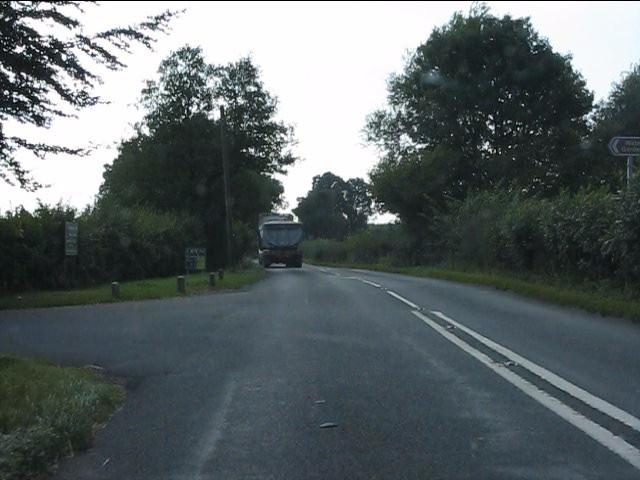A44 at the access to Westonbury Farm