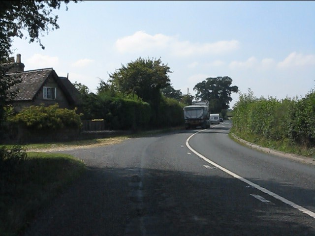A44 at the entrance to Moor Court