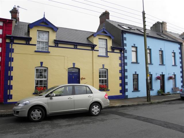 Colourful buildings, Moville
