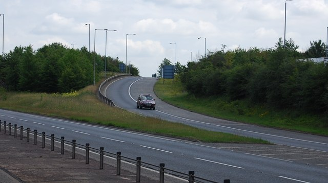 Slip road, Four Wents Way