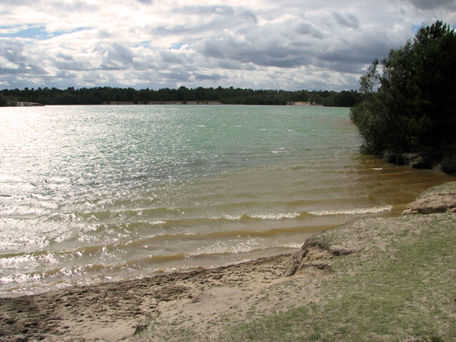 Large lake in Bawsey Country Park