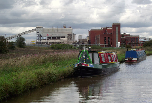 Canal and chemical works near Northwich, Cheshire