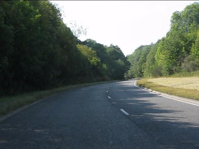 A44 Kington bypass curving near Newton