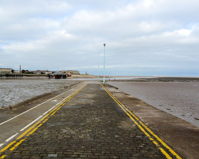 Ferry Slipway at Knott End on Sea